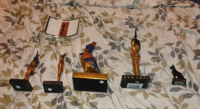 The rest of my statues on my bed during Rite